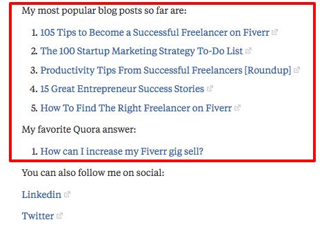 Quora internal links