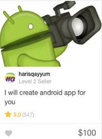 Fiverr mobile app programming Gig