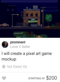 fiverr pixel art gig