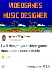 fiverr music game writer gig
