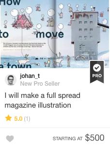 magazine illustration on Fiverr