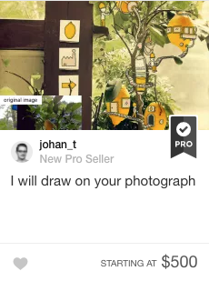Photograph drawing gig on Fiverr