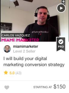 Fiverr Digital marketing conversion strategy Pro seller