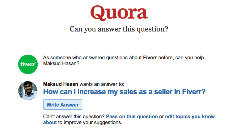 quora question suggestion