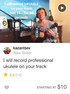 Ukulele music Gig Fiverr