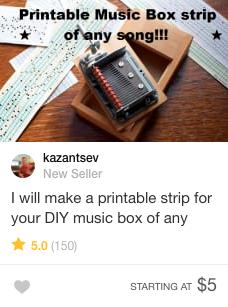 DIY music box gig fiverr