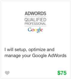 Fiverr Adword Campaign Gig