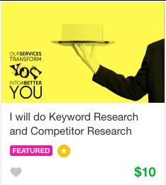 Fiverr keyword research Gig
