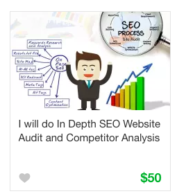 Fiverr Competitive analysis Gig