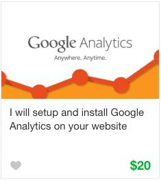 Fiverr Web Analytics Gig