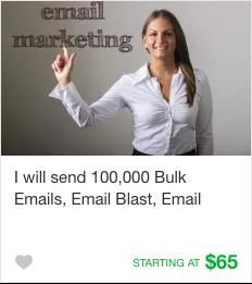 Fiverr email marketing Gig