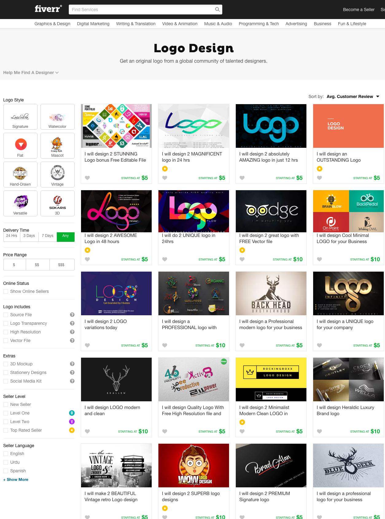 Fiverr Logo Design Freelancers