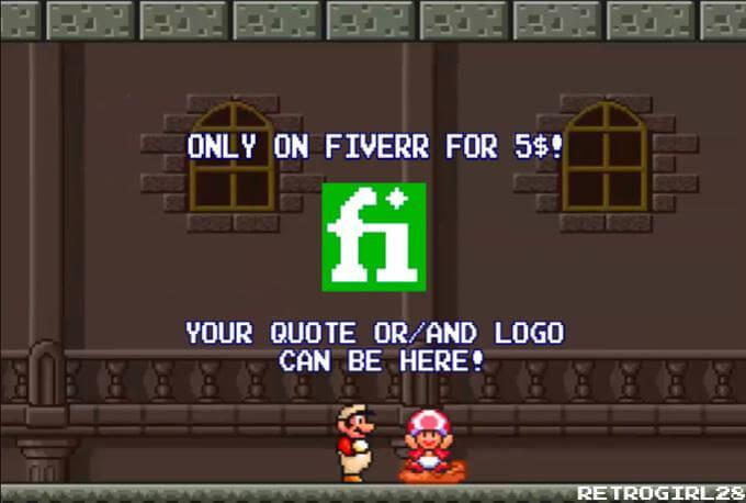 Super Mario Bros custom Valentine