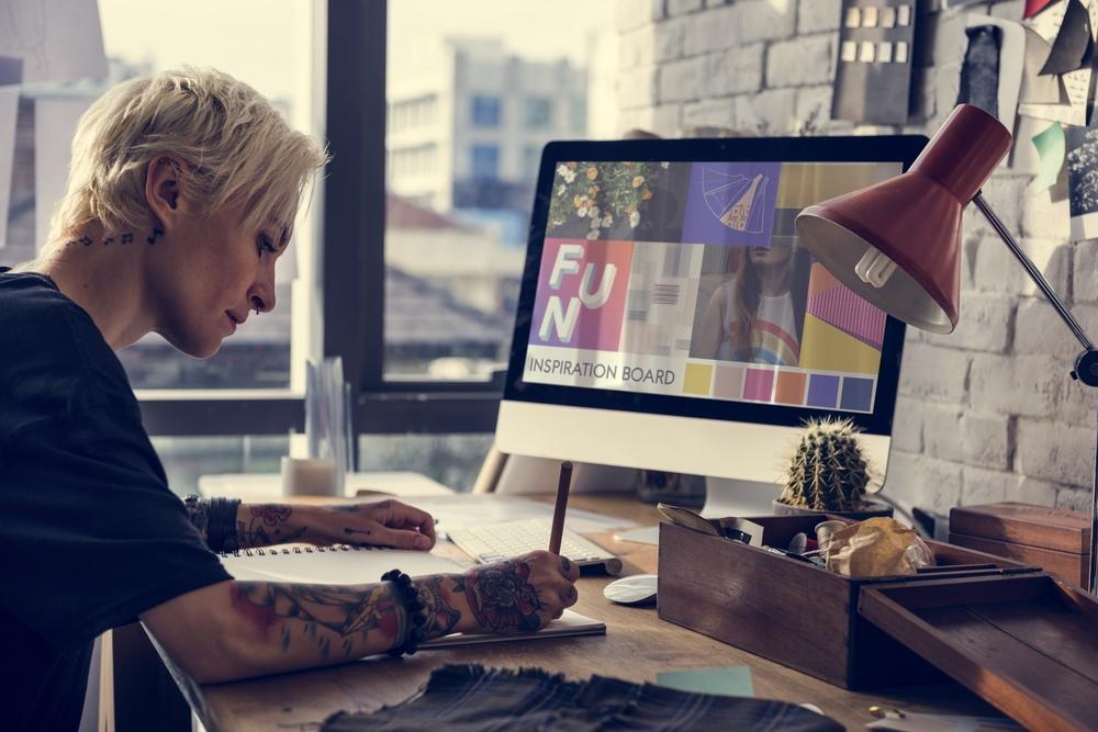 designer analyzing a customer design brief
