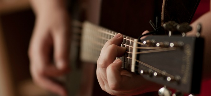 Singer songwriter composing music