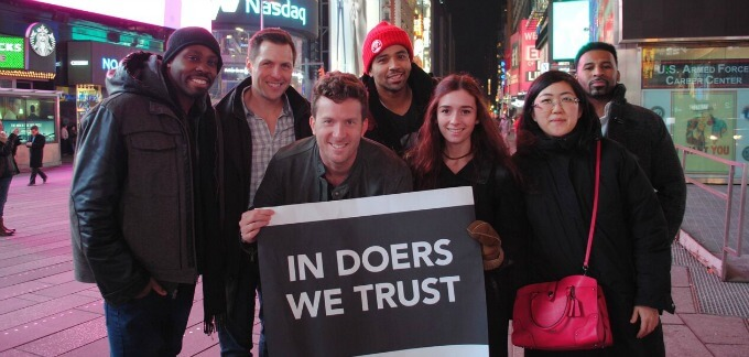 Fiverr, In Doers we Trust Movement, New York