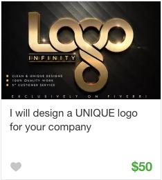 Logo design gig service on Fiverr
