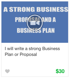Business plan gig service on Fiverr