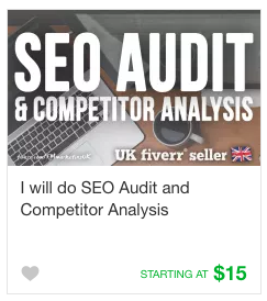 Competitors analysis gig service on Fiverr