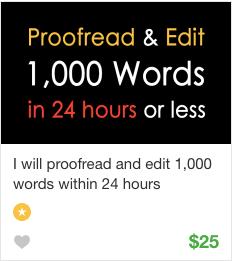 Proofreading Gig Service on Fiverr
