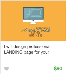 Landing page Gig Service on Fiverr