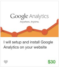 Google analytics Gig service on Fiverr