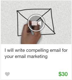 Email marketing Gig Service on Fiverr