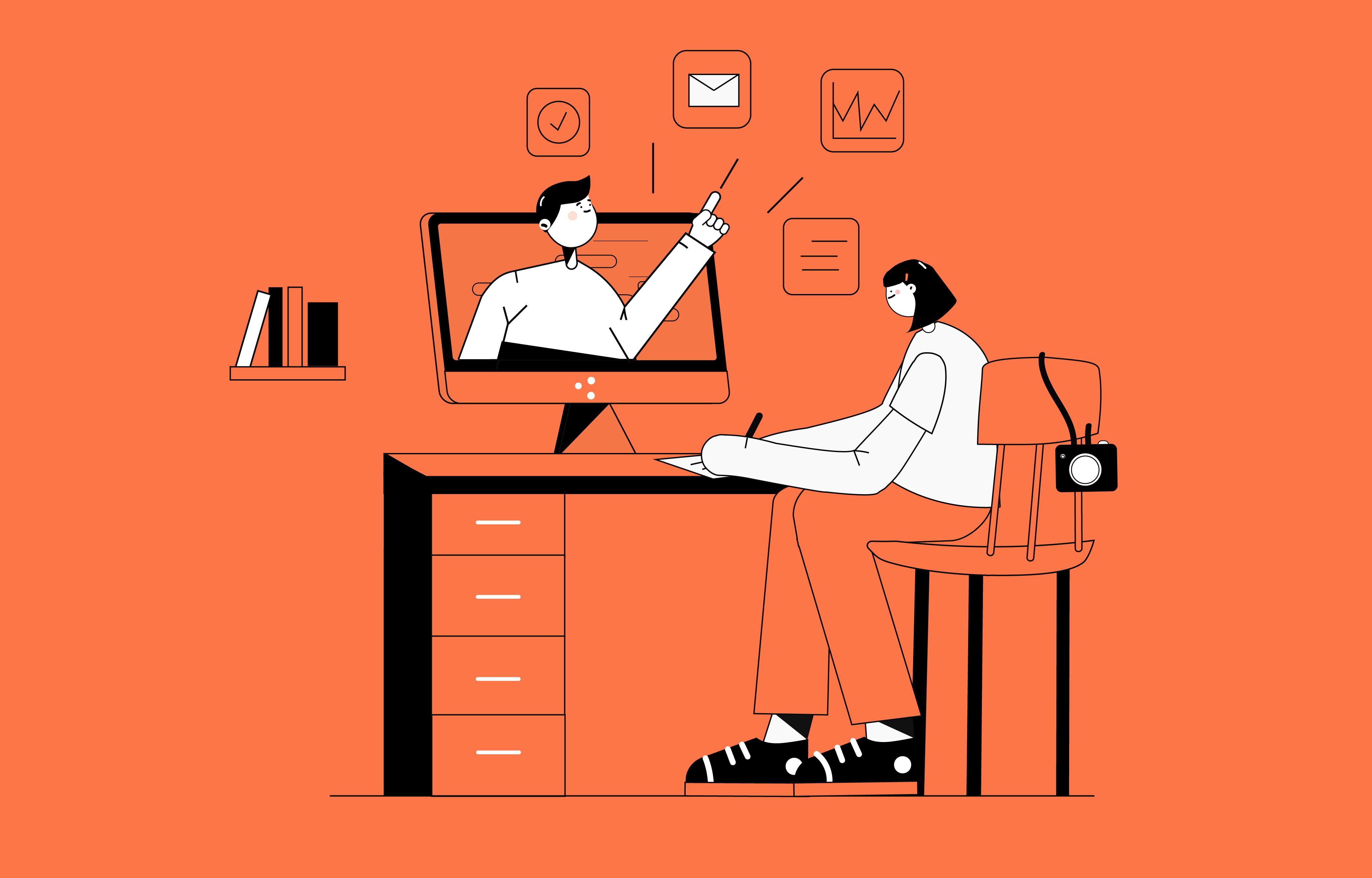 Effektiv von zu Hause arbeiten