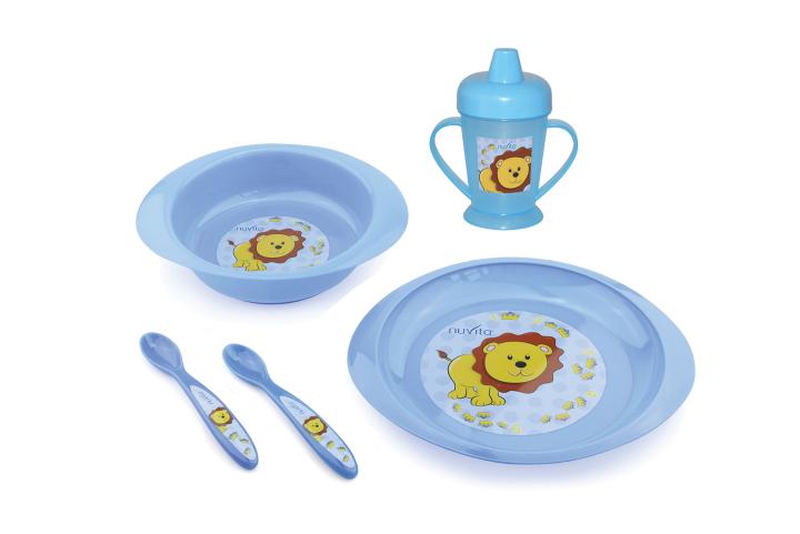 Blue Pink 5 piece meal set - 1495