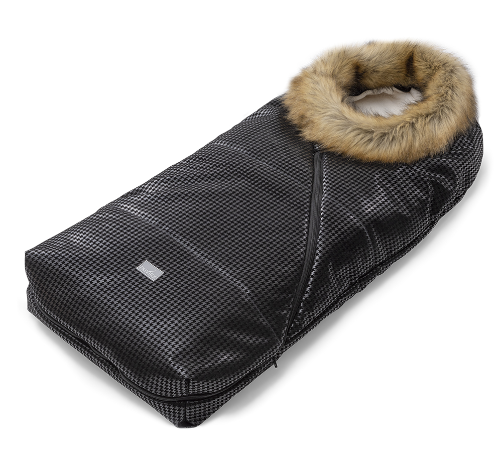 Universal bag for pushchair with collar in ecological fur - Junior Pop 9636