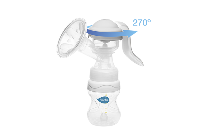 Manual breast pump with swivel handle - Materno Twist 1215