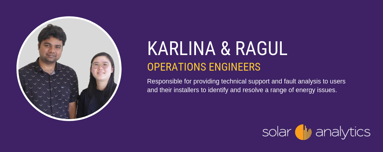 Solar Analytics operations engineers