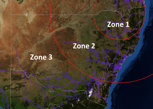 Voltage disturbance according to location in NSW