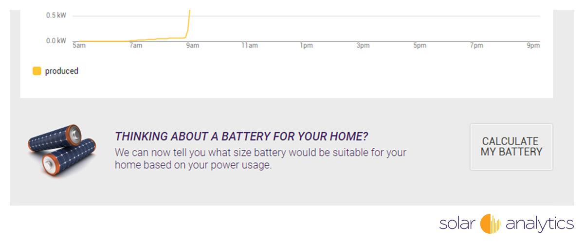 Solar Analytics battery calculator