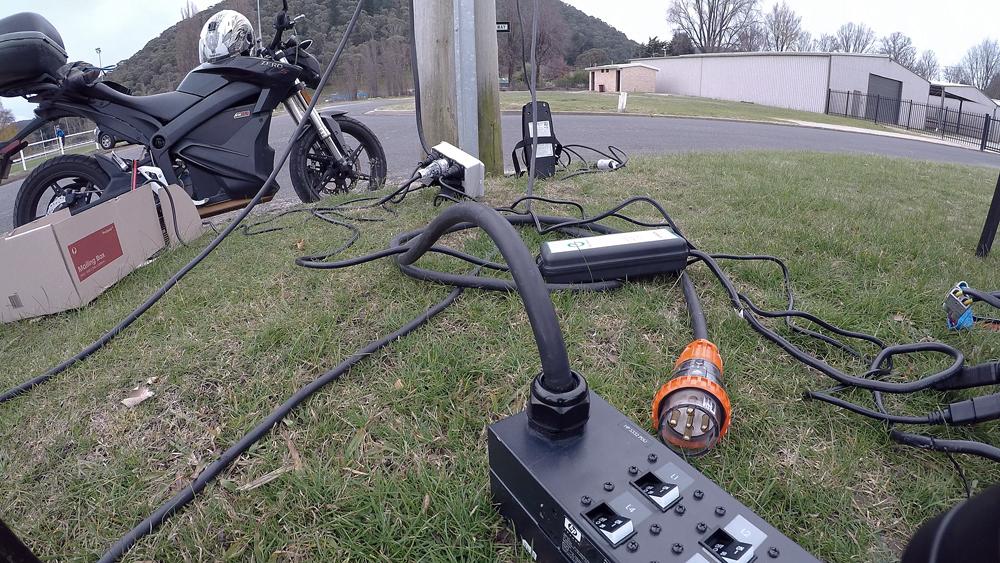 EV Sydney Electric Motorcycle club charging 2