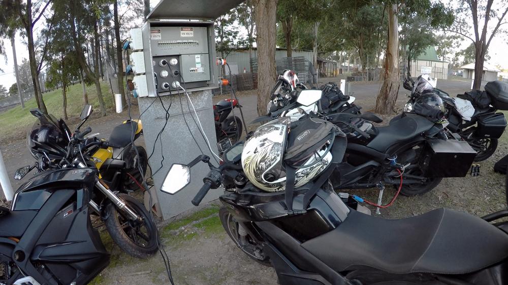 EV Sydney Electric Motorcycle club charging 4