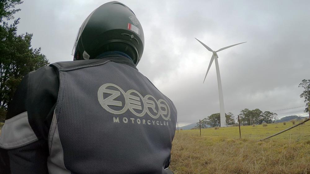 EV bike with wind turbine