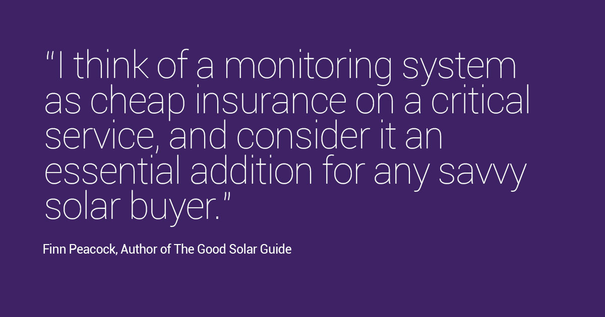 The Good Solar Guide solar monitoring quote