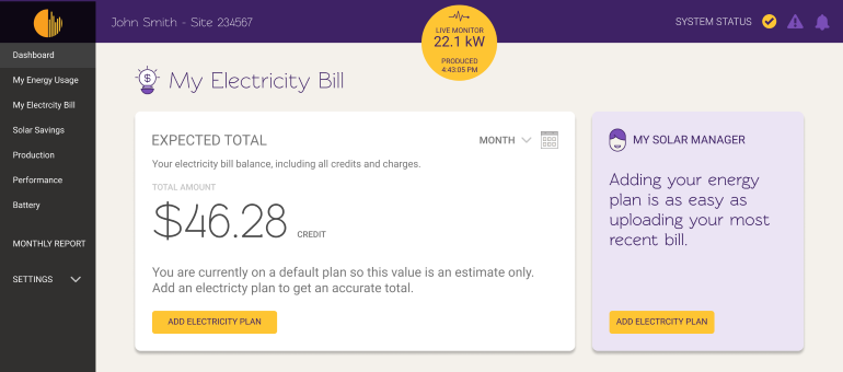 My Electricity Bill allows you to see a breakdown of your electricity bill