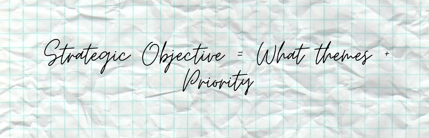 Strategic Thinking objective