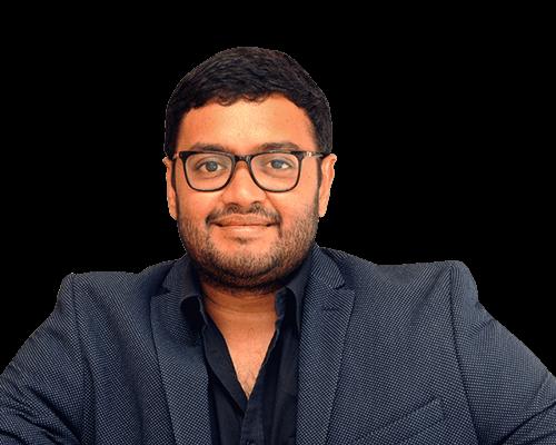 Headshot of SriHarsha Majety, CEO of Swiggy