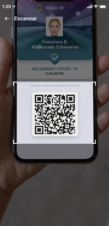 Escaneando el Código QR del Vacu ID