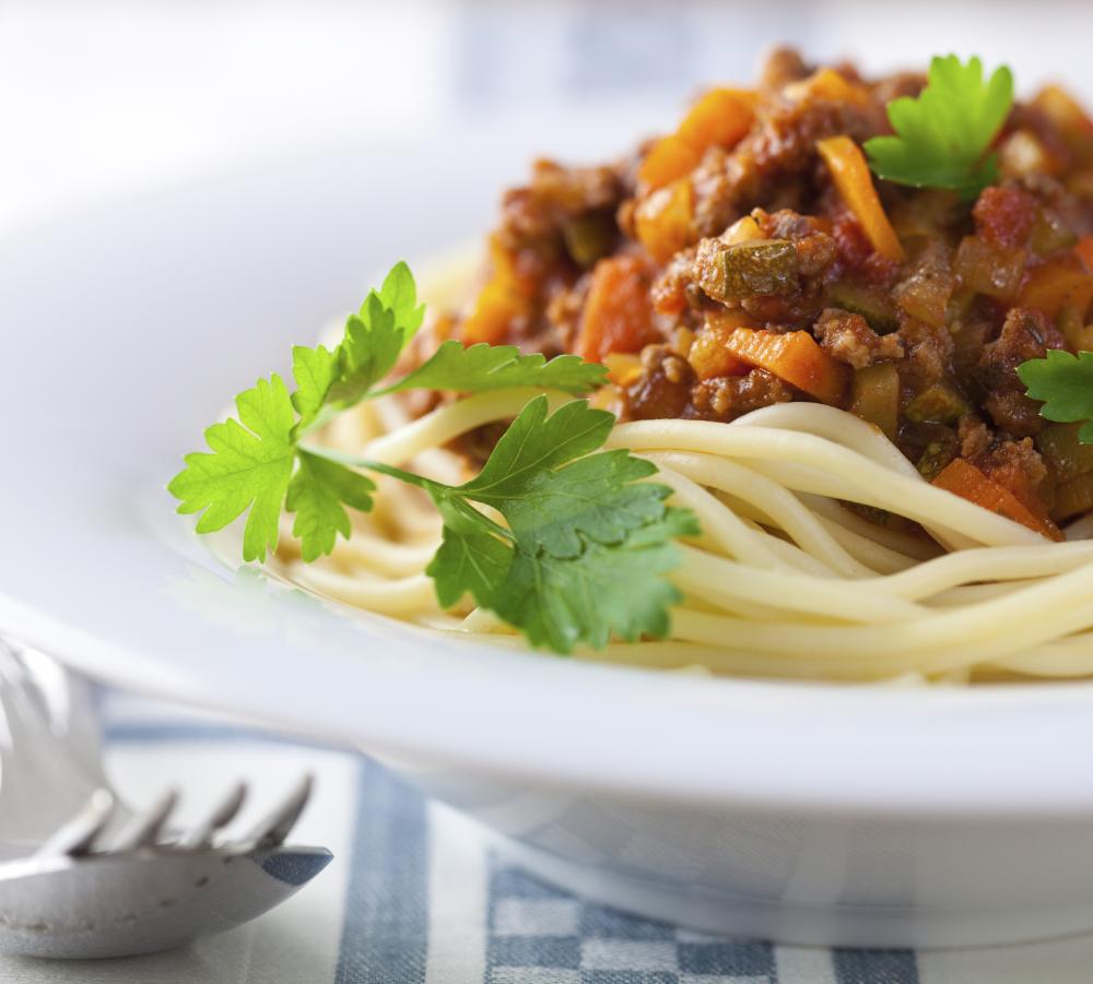 Spaghetti Bolognese, always a popular choice with athletes