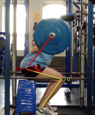 Australian Opal & Melbourne Boomer Bec Allen Squatting 60kg with perfect form