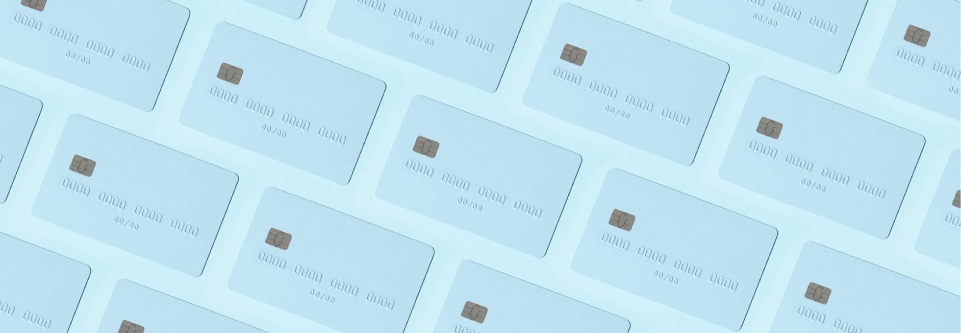 Repeated image of blank credit cards