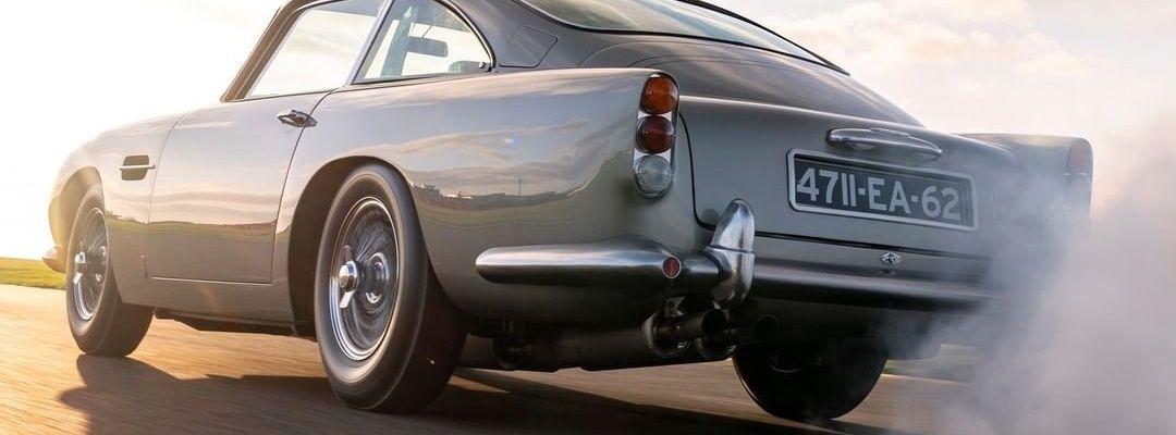 Gray antique Aston Martin car