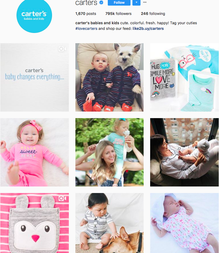 carter's, fashion kids, children clothes online, kids clothing brandsm best clothing brands on instagram, accounts to follow on instagram
