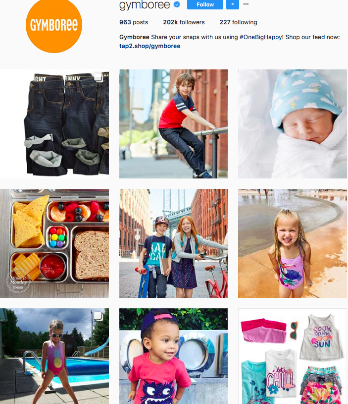 gymboree, fashion kids, children clothes online, kids clothing brandsm best clothing brands on instagram, accounts to follow on instagram