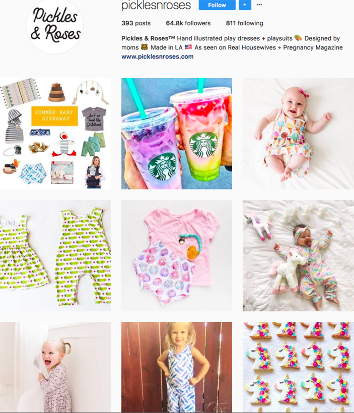 pickles and roses, fashion kids, children clothes online, kids clothing brandsm best clothing brands on instagram, accounts to follow on instagram