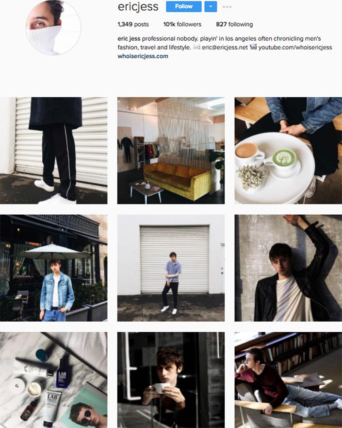 best menswear style bloggers Instagram influencers ericjess